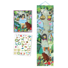 "Eeboo's ""Birthday Tree- Keepsake Growth Chart Includes 32 Stickers"" GCBDTR"