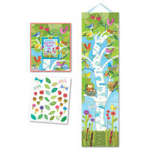 "Eeboo's ""Birds in a Birch Tree--Keepsake Growth Chart with 36 Stickers"" GCBIRD"