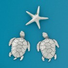 Basic Spirit Fine Pewter 2 Sea Turtles & Seastar Magnets MM-103