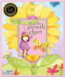 "Eeboo's ""Growing Like a Sunflower- Keepsake Growth Chart Includes 20 Stickers"""