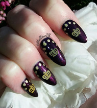 Golden crown nail decal blog by Tracey Bellew