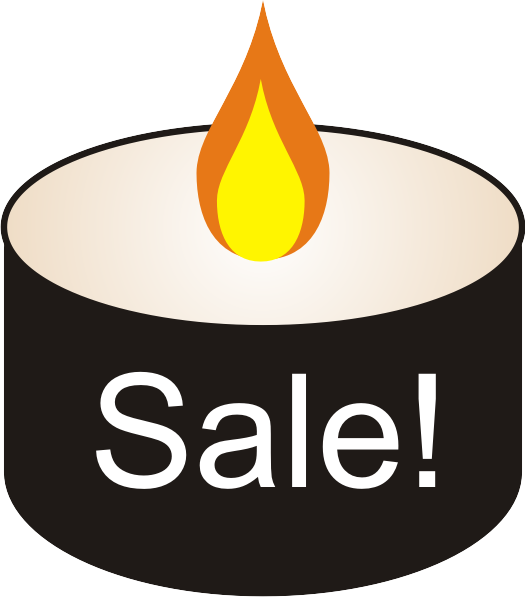 sale black candle free graphic
