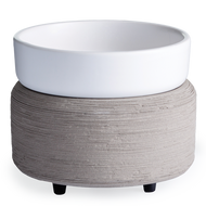 Grey Texture Candle Warmer and Dish