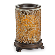 Mosaic Glass Tart Warmer - Crackled Amber