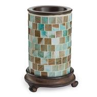 Mosaic Glass Tart Warmer - Sea Glass