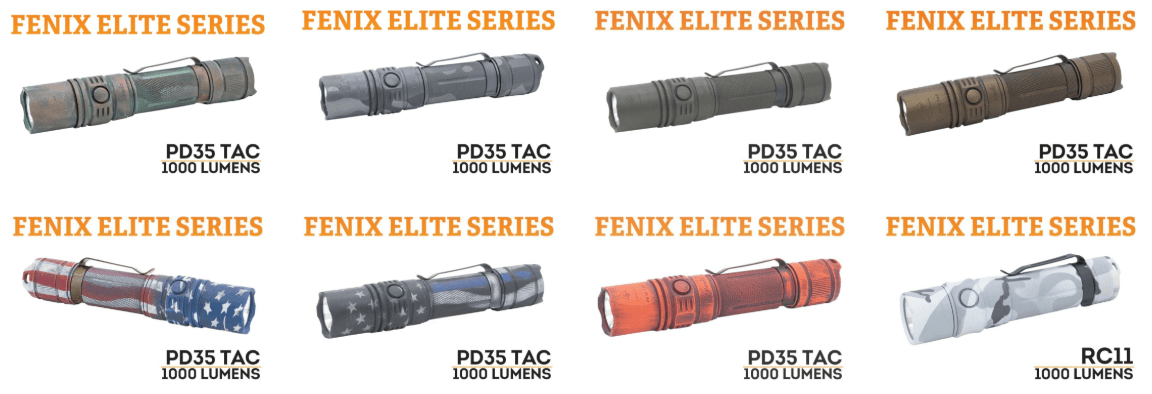 Fenix Flashlights Cerakote Finish