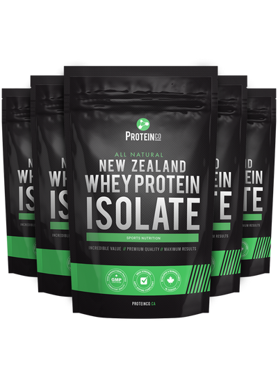5  x  All Natural New Zealand Whey Protein Isolate ( NEW!! )