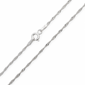 18k White Gold chain - Twist