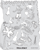 Artool - Tiki Master 2Stencil - Hula Spirit