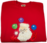 Christmas Sweatshirt - Juggling Santa Sample