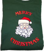 Christmas Sweatshirt - Santa Face Sample