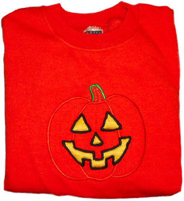Fall Sweatshirt - Pumpkin Outline
