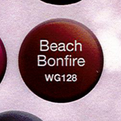 WaveGel Matching S/O Gel & Nail Lacquer - Beach Bonfire .5 oz WG128