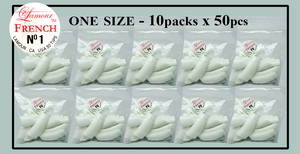 Lamour French Tip One Size - 10 Packs (50 per pack). Size #1