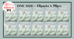 Lamour French Tip One Size - 10 Packs (50 per pack). Size #9