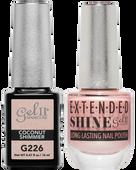 Gel II + Matching Extended Shine Polish, COCONUT SHIMMER #G226 - #ES226