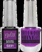 Gel II + Matching Extended Shine Polish, ELECTRIC JELLYFISH #G231 - #ES231