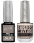 Gel II + Matching Extended Shine Polish, COOL CONFIDENCE #G246 - #ES246