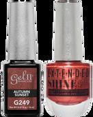 Gel II + Matching Extended Shine Polish, AUTUMN SUNSET #G249 - #ES249
