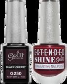 Gel II + Matching Extended Shine Polish, BLACK CHERRY #G250 - #ES250