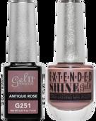 Gel II + Matching Extended Shine Polish, ANTIQUE ROSE #G251 - #ES251