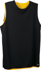 Black/Gold Kobe Sportswear Swingman Youth Reversible KST Vest | Blanksportswear.ca