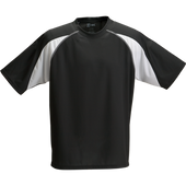 Black/White Kobe Sportswear Aggression Athletic Short Sleeve Adult Shirt | Blanksportswear.ca