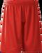 Red Kobe Sportswear FastBreak KST Adult Shorts | Blanksportswear.ca