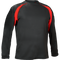 Black/Red Kobe Sportswear Aggression Athletic Long Sleeve Adult Shirt | Blanksportswear.ca