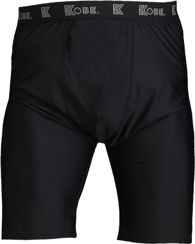 Black Kobe Sportswear Energy Compression Adult Shorts | Blanksportswear.ca