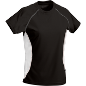 Black/White Kobe Sportswear Aggression Athletic Short Sleeve Ladies' Shirt | Blanksportswear.ca