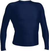 Navy Kobe Sportswear Grip Compression Long Sleeve Youth Shirt | Blanksportswear.ca