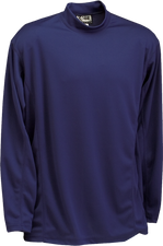 Navy Kobe Sportswear Classic Long Sleeve Mock Neck Adult Shirt | Blanksportswear.ca