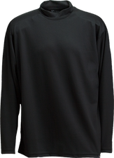 Black Kobe Sportswear Classic Long Sleeve Mock Neck Youth Shirt | Blanksportswear.ca