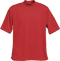Red Kobe Sportswear Classic Short Sleeve Mock Neck Adult Shirt | Blanksportswear.ca