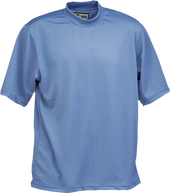 French Blue Kobe Sportswear Classic Short Sleeve Mock Neck Youth Shirt | Blanksportswear.ca