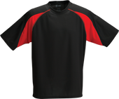 Black/Red Kobe Sportswear Aggression Athletic Short Sleeve Youth Shirt | Blanksportswear.ca