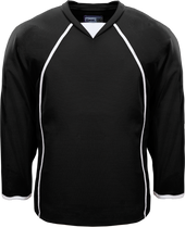 Black/White- K3G Amateur Series Goalie Practice Hockey Jersey