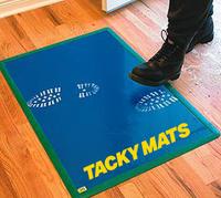 """24"""" x 36"""" Tacky Mat Blue 30/sh  cs/4"""