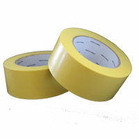 Tape, Yellow Poly Tape w/Pinked Edges, 48mm x 55m, 7.5 MIL