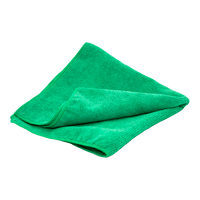 Microfiber 300 GSM  Multipurpose  16 x16 Towel Green