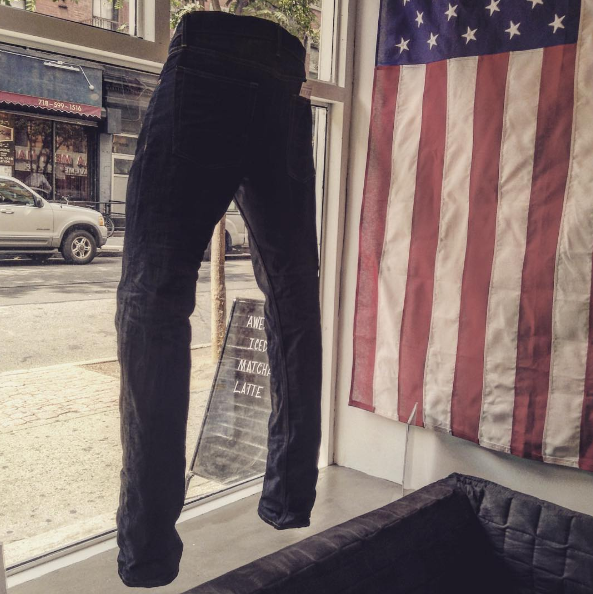 Display at Williamsburg denim jeans store 11211