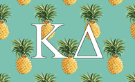 Kappa Delta Sorority Flag-Pineapple