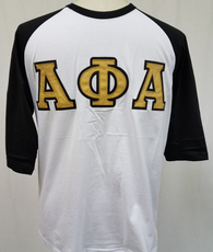 Alpha Phi Alpha Fraternity Baseball Shirt-White
