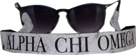 Alpha Chi Omega Sorority Sunglass Straps- Marble