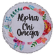 Alpha Chi Omega Sorority Towel Blanket