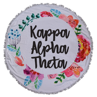 Kappa Alpha Theta Sorority Towel Blanket