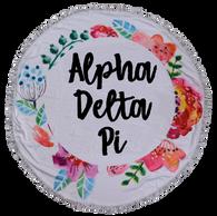 Alpha Delta Pi ADPI Sorority Towel Blanket