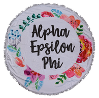 Alpha Epsilon Phi AEPHI Sorority Towel Blanket