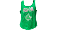 Alpha Kappa Alpha AKA Sorority Tank Top-Green